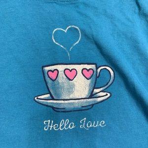 Life Is Good Tops - Life is good love coffee tea classic fit  tee